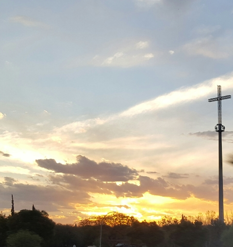 sunset-cross